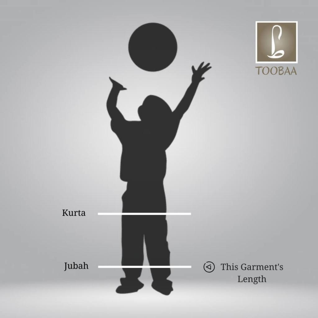 Length Diagram – Boys Jubah