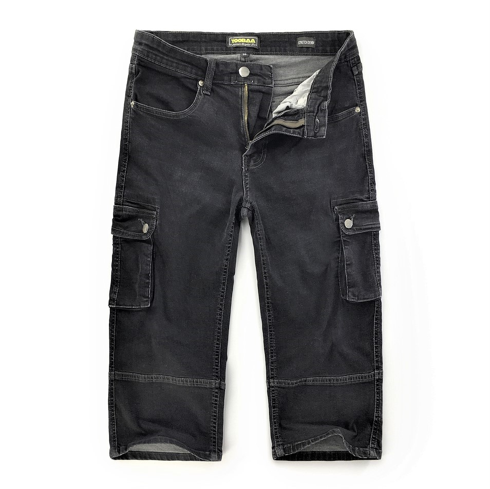 Grey Stretch Denim Sunnah Pants (1)