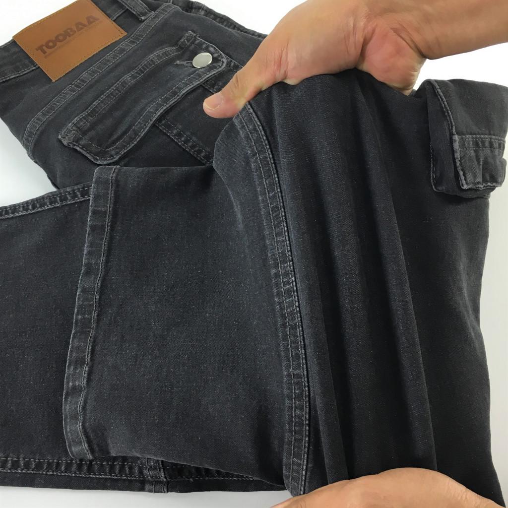 Grey Stretch Denim Sunnah Pants (4)