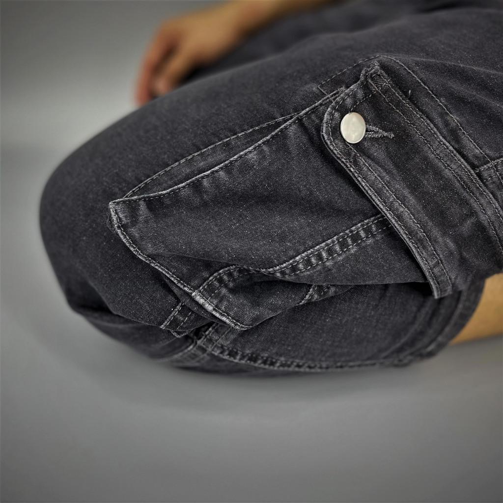 Grey Stretch Denim Sunnah Pants (5)