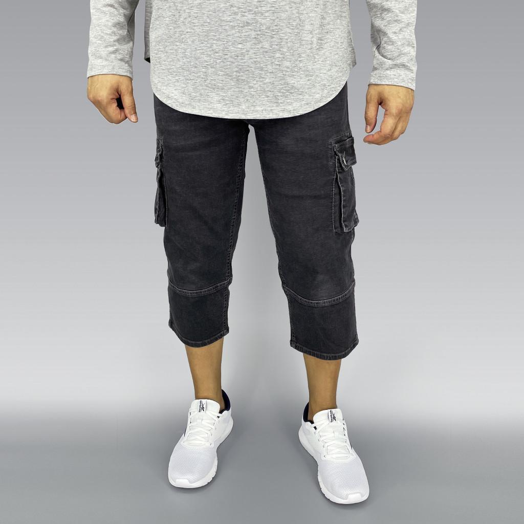 Grey Stretch Denim Sunnah Pants (6)