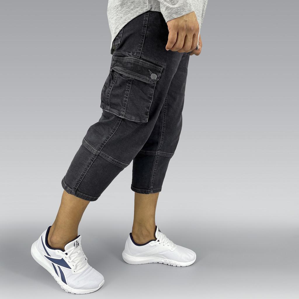 Grey Stretch Denim Sunnah Pants (7)