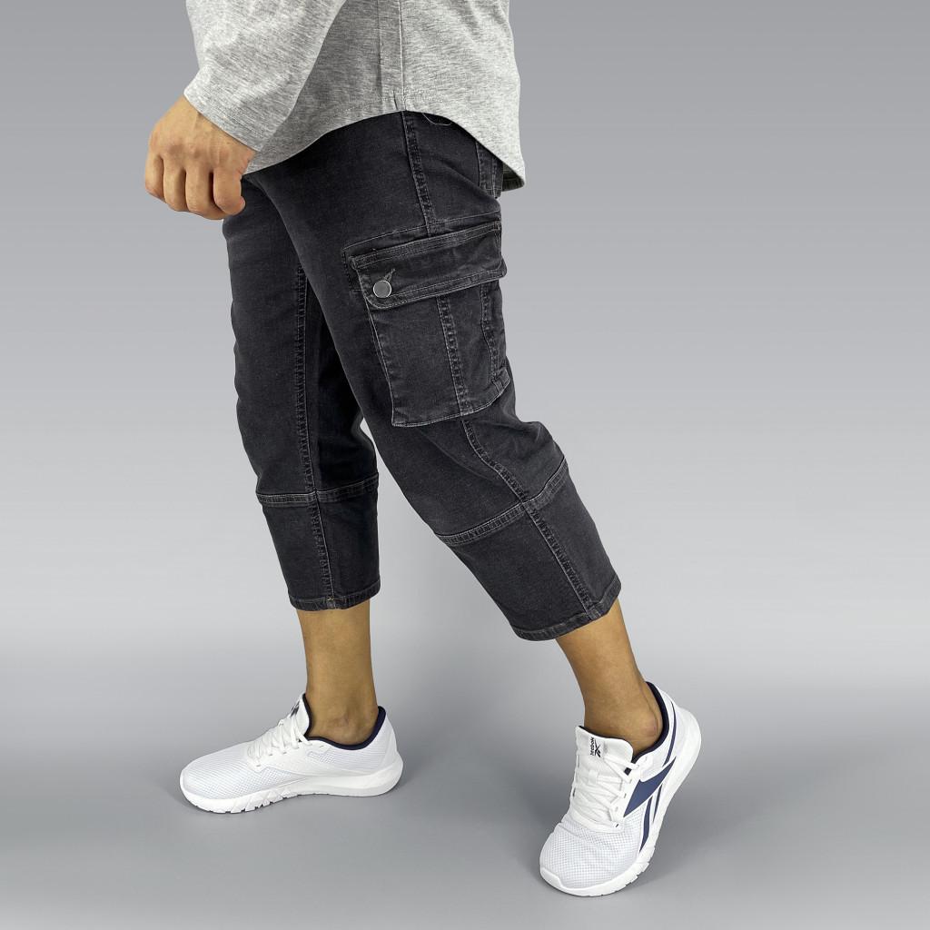 Grey Stretch Denim Sunnah Pants (8)