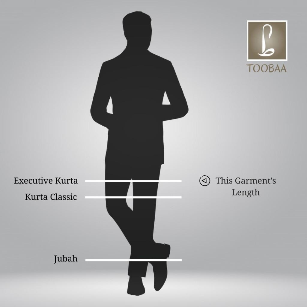 Length Diagram – Men Executive Kurta